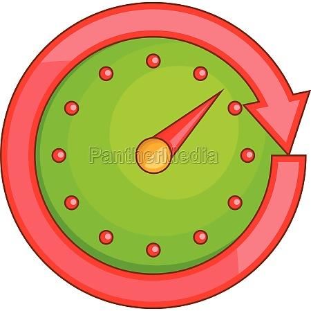 automobile speedometer icon cartoon style