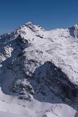 beautiful landscape of mountain on winter