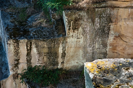 historic roman quarry kriemhildenstuhl near bad