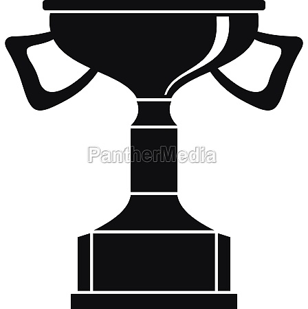 cup for victory icon simple style