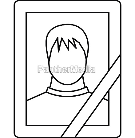memory portrait icon outline style