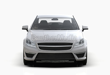 generic and brandless expensive luxury car