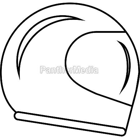 racing helmet icon outline style