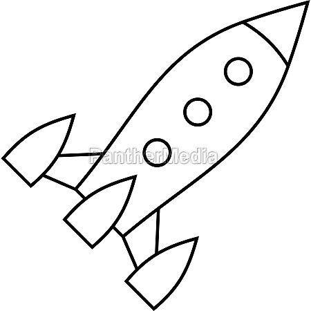 aircraft rocket icon outline style