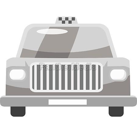 taxi car icon gray monochrome style