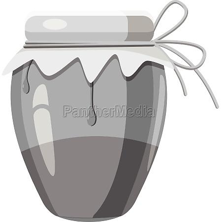 jug with honey icon gray monochrome