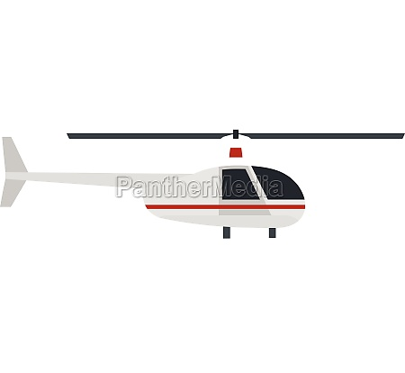 helicopter icon flat style