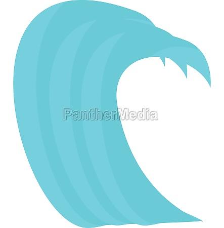 tsunami wave icon cartoon style
