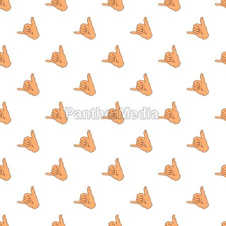 gesture surfing pattern cartoon style