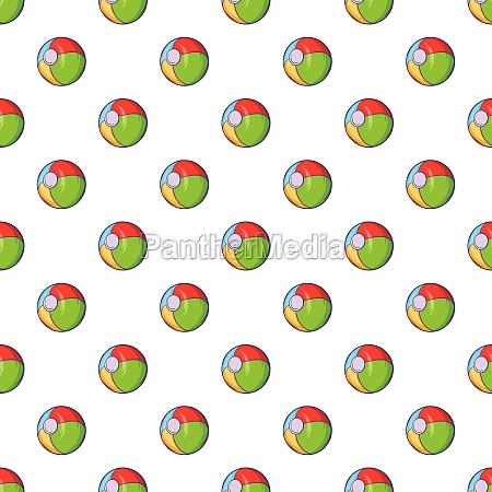 childrens ball pattern cartoon style