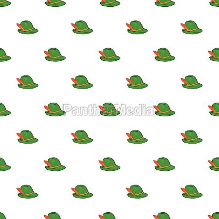 irish hat pattern cartoon style