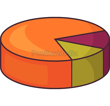 colorful pie graphic chart icon cartoon