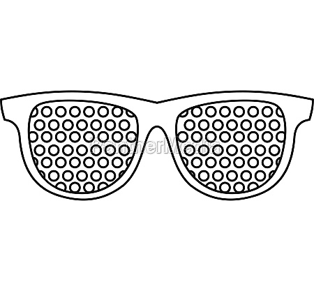 pinhole glasses icon outline style
