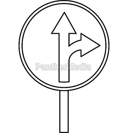 straight or right turn ahead traffic