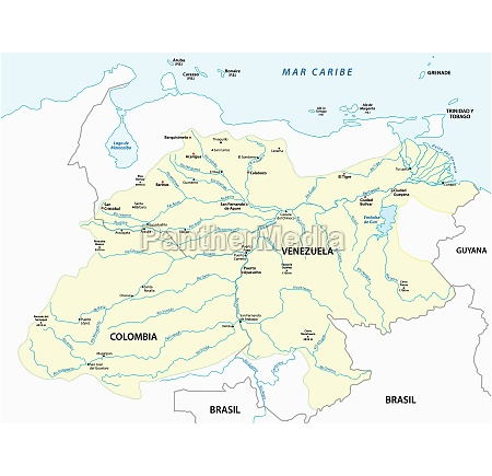 vector map of the orinoco river
