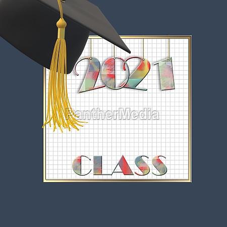 2021 graduation class card