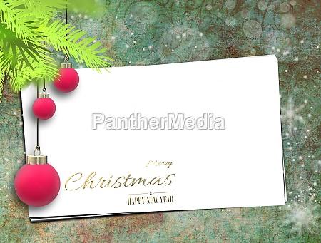 christmas holiday greetings mock up