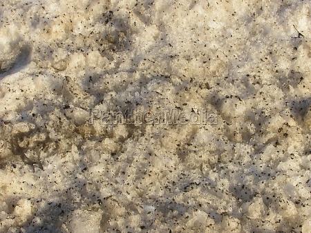 background muddy spring melting snow
