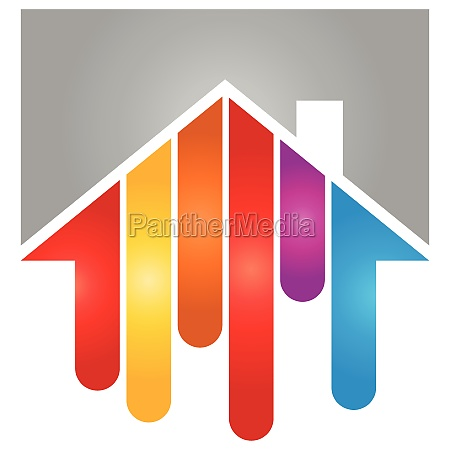 house in paint painter logo background
