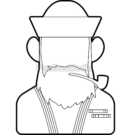 sailor icon outline style