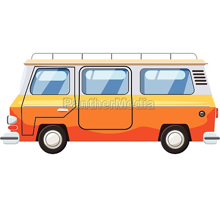 mini bus icon cartoon style