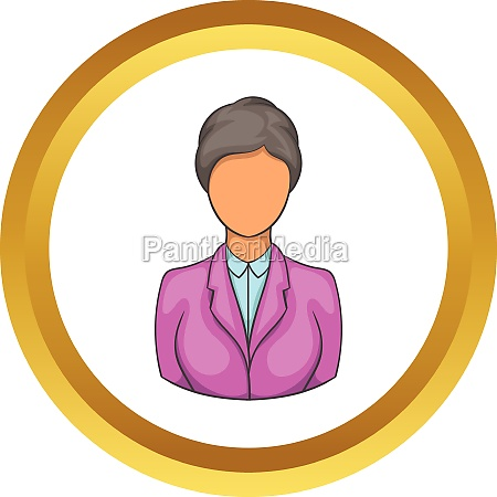 woman receptionist at hotel vector icon