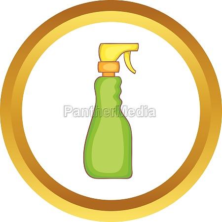 household spray bottle vector icon