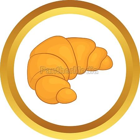 fresh croissant vector icon