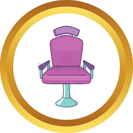 barber chair vector icon