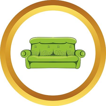 sofa vector icon cartoon style