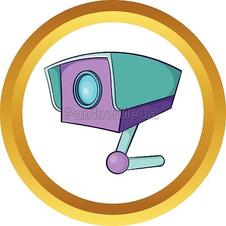 cctv camera vector icon