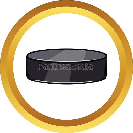 hockey puck vector icon cartoon style