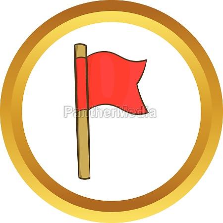 football flag vector icon