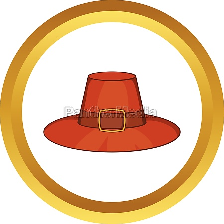 piligrim hat vector icon