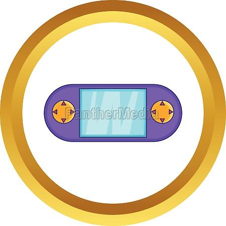 portable game console vector icon
