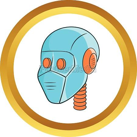 mechanic head vector icon