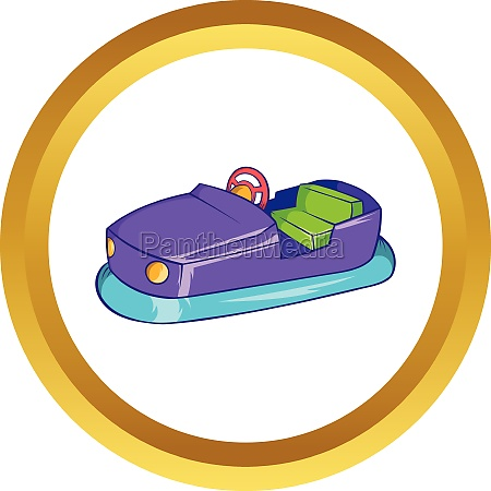 bumper car in amusement park vector