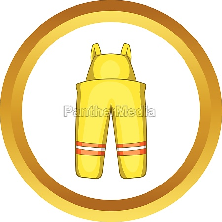 firefighter costume vector icon