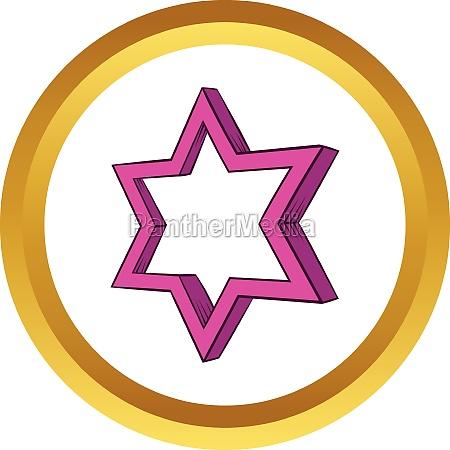star vector icon cartoon style