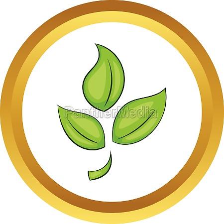 green plant eco symbol vector icon