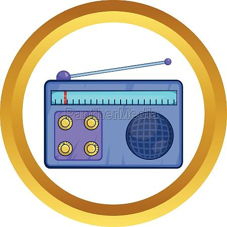 retro radio receiver vector icon