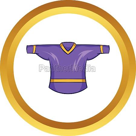 ice hockey sweater vector icon cartoon