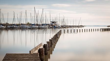 marina with sailing boats at of