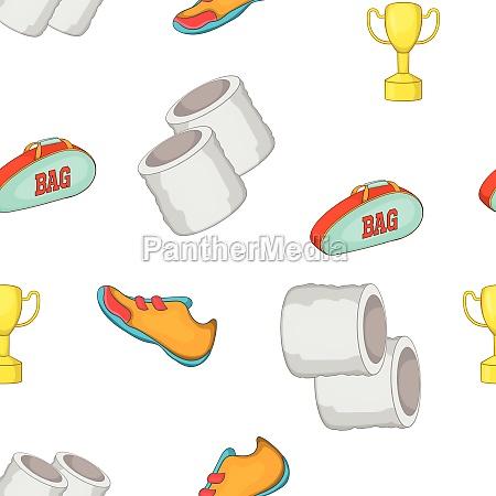 tennis equipment pattern cartoon style