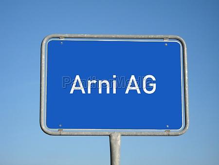 place name sign arni ag