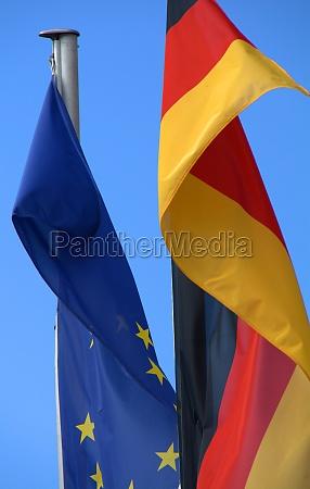 european an german flag
