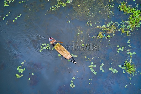 aerial view of a small fishing