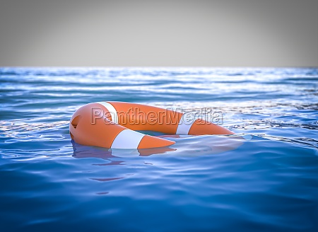 lifebuoy in the middle of the