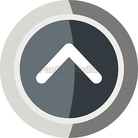 gray round button icon cartoon style
