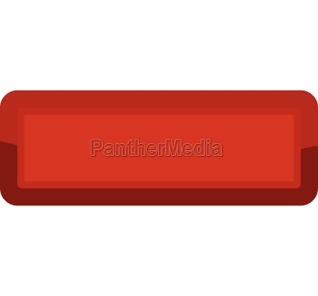red rectangle button icon cartoon style
